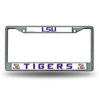 LSU Tigers NCAA Chrome License Plate Frame