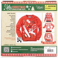 The Ugly Christmas Sweater Kit Men's Make Your Own Ugly Christmas Sweater