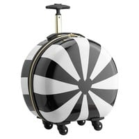 The Emily & Meritt Hard-Sided Round Carry-On, Pinwheel Stripe