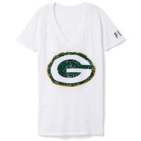 Green Bay Packers Bling V-Neck Tee - PINK - Victoria's Secret