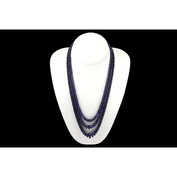 441 ct Sapphire Triple Stand Necklace