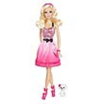 Barbie and Pet Poodle Pink Party Dress Doll