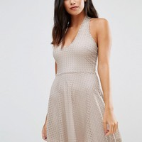 Wal G Halterneck Skater Dress at asos.com