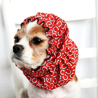 Lucky Horshoes Dog Snood  / Cavalier King Charles or Cocker fabric ear covering