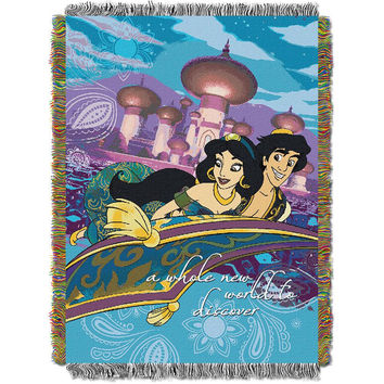 Disney Aladin A Whole New World 051  Woven Tapestry Throw Blanket (48x60)