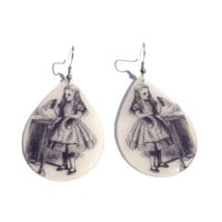 """We Love how the Teardrop Shape lends itself to certain images and vice-versa. Rich Images and vibrant colors make these earrings a must have piece. Resin Teardrop Earrings are 1-3/4"""" wide and 2"""" in length. These are a lightweight translucent resin product"""