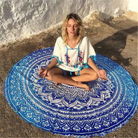 New Indian Mandala Round Tapestry Wall Hanging Beach Throw Towel Yoga Mat Boho Decor