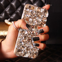 Bling Crystal Diamond Phone Case Cover For Iphone 6 6S Plus 5S 5C 4S Samsung Galaxy Note 5 4 3 2 S7 S6 Edge Plus S5/4/3 A8/7/5/3