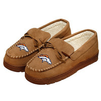 Denver Broncos Official NFL Mens Moccasin Slippers