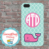 Teal and Pink Vineyard Vines Custom Monogram Phone case! iPhone 4, 5, and Galaxy 3!  Adorable Gifts for Women of all Ages