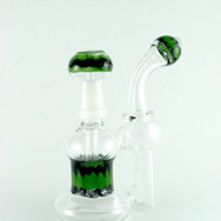 """Bubbler Water Banger 8 """"/ Red and Green Jar"""