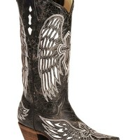Corral Women's Wing and Cross Snip Toe Western Boots