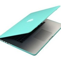 "MacBook Pro 13 Retina Case (NO CD-ROM Drive), Mosiso Soft-Touch Plastic Hard Case Cover for MacBook Pro 13.3"" with Retina Display A1502 / A1425 (NEWEST VERSION) with One Year Warranty (Hot Blue)"