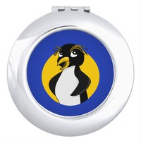 Rockhopper penguin cartoon mirrors for makeup