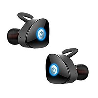 True Wireless Earbuds, FKANT Gemini Completely Wireless V4.1 Dual Mini Bluetooth Headphones Twin Stereo Sweatproof Sport Earphones with Mic for iPhone Android Smartphones and More