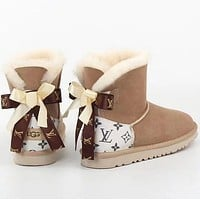 UGG LV bow Boots Shoes adult child Shoes