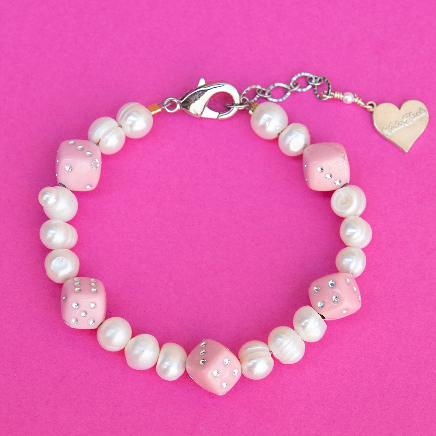 Image of Pearl Roll the Dice Bracelet