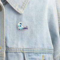Waves Enamel Pin