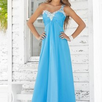 Blush Prom 9373 Sky One Shoulder Evening Gown