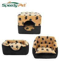 Pet Dog Multi-functional House Bed Puppy Kennel Warm Doggie Sofa Cat Nest Pad Kitten Mat S M For Small Medium Dog Pet Supplies