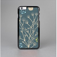 The Slate Blue and Coral Floral Sketched Lace Patterns v21 Skin-Sert for the Apple iPhone 6 Skin-Sert Case