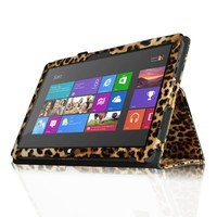 Fintie Folio Case for Microsoft Surface RT / Surface 2 10.6 inch Tablet Slim Fit with Stylus Holder (Does Not Fit Windows 8 Pro Version) - Leopard Brown