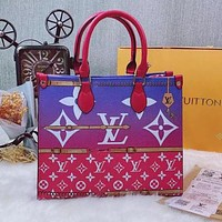 LV Louis Vuitton Hot Sale Colorblock Letters Handbag Shoulder Bag Messenger Bag