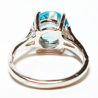 """Topaz, sky blue topaz, blue topaz ring, solitaire ring, blue, engagement ring, s 6 1/2  """"Chantilly Lace"""""""
