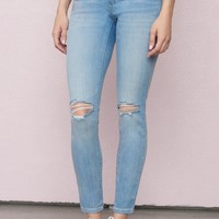 Capri Blue High Waist Ankle Jegging