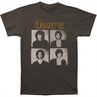 Doors Men's  The Doors Squared T-shirt Charcoal
