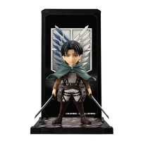Attack on Titan Captain Levi Tamashii Buddies Mini-Statue - Bandai Tamashii Nations - Attack on Titan - Statues at Entertainment Earth