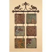 Metal Wall Decor Botanical Scroll Metal-(99204)