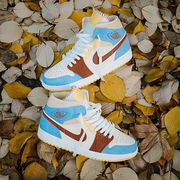 Air Jordan 1 Mid Fearless Maison casual men and women couple shoes