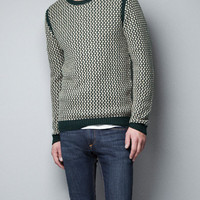 COMBINED STRUCTURED SWEATER - Man - New this week - ZARA United States