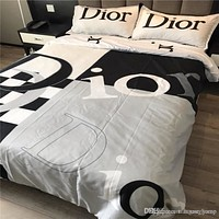 Royal Bedding Suit High Quality 4 Piece Suit Letter Print Cotton