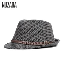 Brands NUZADA Autumn Winter Men Fedoras Top Jazz Hat Bowler Hats Quality Cotton Cap England Retro Classic Version You Can Adjust