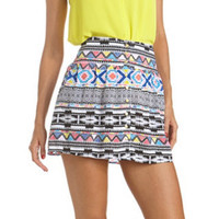 BUTTON-FRONT PRINTED CHALLIS SKIRT