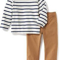 2-Piece Knit-Tee & Chinos Set for Baby | Old Navy