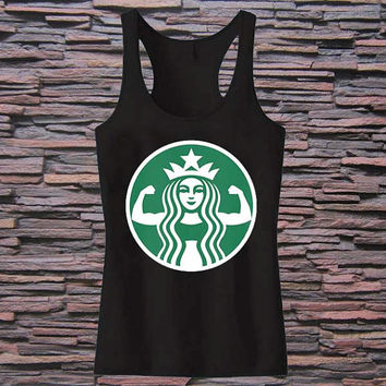 STARBUFF PARODY Workout Tank top for womens and mens heppy fit