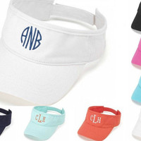 Monogrammed VISOR  Perfect for the Beach!