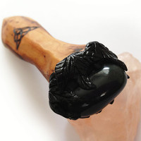 Triquetra Pocket Athame - ritual knife wicca wiccan witch witchcraft ritual tools pagan yew bloodstone