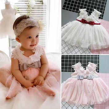 born Infant Princess Kids Party Costume Outfit Tulle Christening Gown Baby Girl Wedding Dress 1 Year Birthday Baby Dress Girl