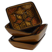 Le Souk Ceramique Honey Design Serving Dish (Set of 4)