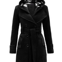 Hooded Trench Blend Wool Coats