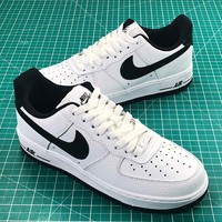 Nike Air Force 1 Low Af1 White Black Sport Shoes - Best Online Sale