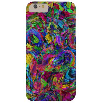 Colorful Modern Glitter Abstract Stripes Pattern Barely There iPhone 6 Plus Case