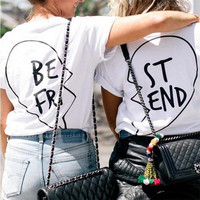 BEFRI and STEND Letter and Heart Break Print T-Shirt