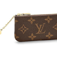 Lv Brown Monogram Key Pouch