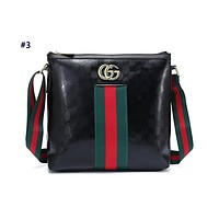 GUCCI hot seller of fashionable printed stripe ladies casual shopping bag with one shoulder bag #3