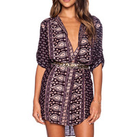 Spell & The Gypsy Collective Gypsiana Shirt Dress in Pepper